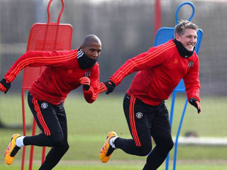 Bastian Schweinsteiger-Ashley Young-Manchester Utd. trening 31/10/2016