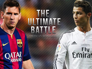 Ronaldo Messi battle
