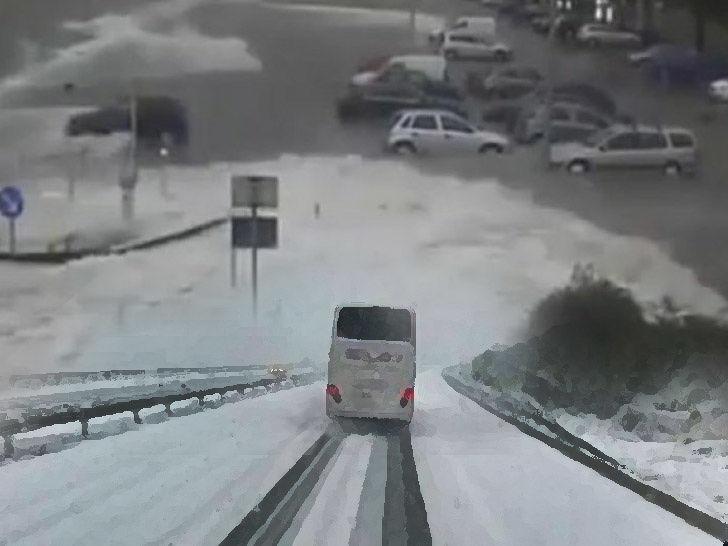 Zima snijeg autobus