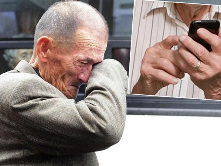 Stari čovjek mobitel
