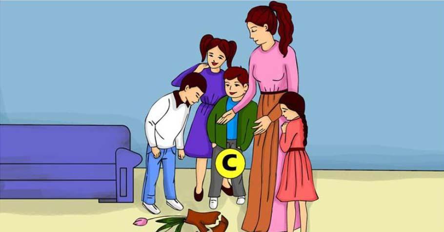 Dijete razbijena vaza ABCD