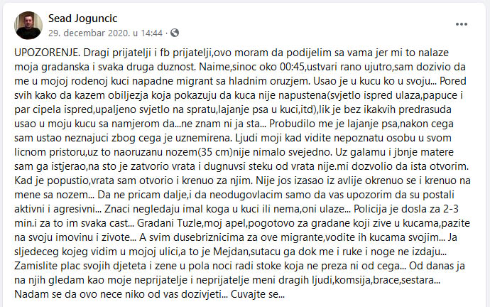 Sead Jogunčić migranti 1